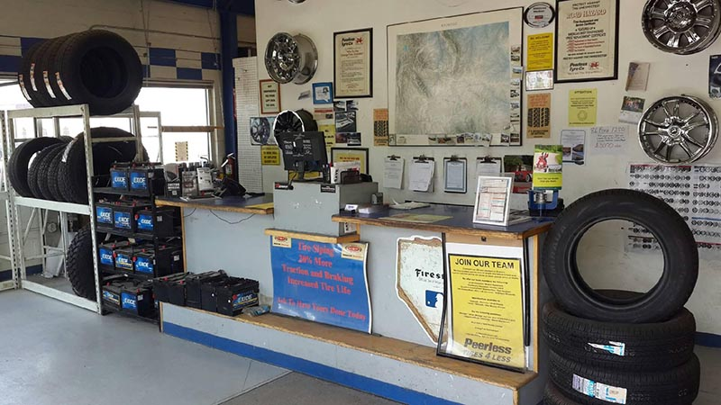 Wyoming tire store - Laramie location interior