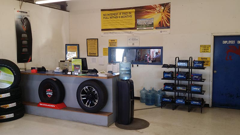 Texas Tires Shop - Midland Store Interior