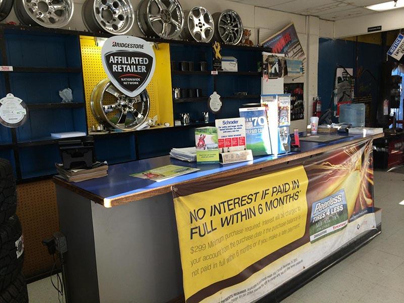 Odessa New Tires Store Interior